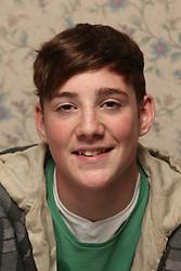 Teenage boy smiling