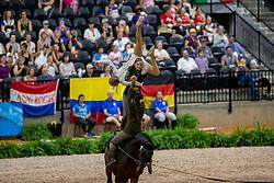 SNEEKES Carola (NED), VAN DER LAAN Sofie (NED), SNEEKES Esther (NED), RUIGROK Roxanne (NED), TER MEULEN Dianne (NED), VAN SCHAIK Renske (NED), Rubin Royal<br /> Tryon - FEI World Equestrian Games™ 2018<br /> Team Roy Rogers<br /> Nations Team Vaulting Championship<br /> 19. September 2018<br /> © www.sportfotos-lafrentz.de/Stefan Lafrentz