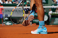 illustration chaussures Rafel NADAL / Nike  - 30.05.2015 - Jour 7 - Roland Garros 2015<br /> Photo : Nolwenn Le Gouic / Icon Sport