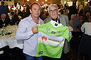 Ricky Stuart (L) and Sir Peter Leitch, All-Star League 4 Life Lunch with Sir Peter Leitch, Ellerslie Events Centre, Auckland, 9 May 2014. Photo: Andrew Cornaga/www.photosport.co.nz