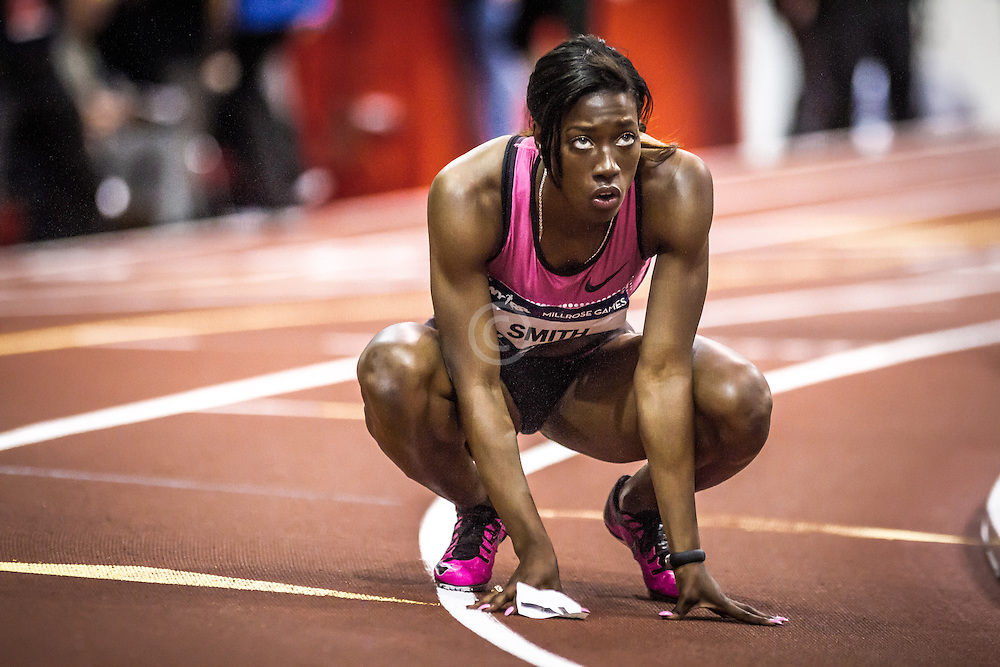 Stacey-Ann Smith, Jamaica, 3rd women's 300 meter, Millrose Games, NYC 2014