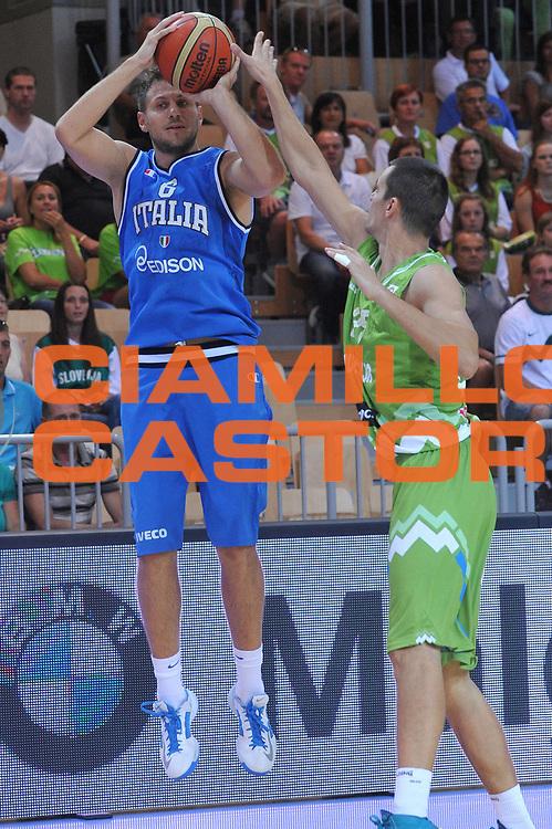 DESCRIZIONE : Capodistria Koper Italia Slovenia Italy Republic of Slovenia<br /> GIOCATORE : stefano mancinelli<br /> CATEGORIA : tiro<br /> SQUADRA : Nazionale Italia Maschile Uomini<br /> EVENTO :  Capodistria Partita Amichevole<br /> GARA : Italia Montenegro Italy Republic of Slovenia<br /> DATA : 24/08/2013<br /> SPORT : Pallacanestro<br /> AUTORE : Agenzia Ciamillo-Castoria/M.Gregolin<br /> Galleria : FIP Nazionali 2013<br /> Fotonotizia : Capodistria Koper Italia Slovenia Italy Republic of Slovenia<br /> Predefinita :