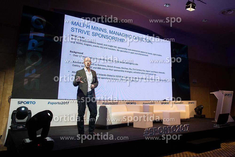 Malph Minns (Strive Sponsorship) during Sports marketing and sponsorship conference Sporto 2017, on November 16, 2017 in Hotel Slovenija, Congress centre, Portoroz / Portorose, Slovenia. Photo by Vid Ponikvar / Sportida