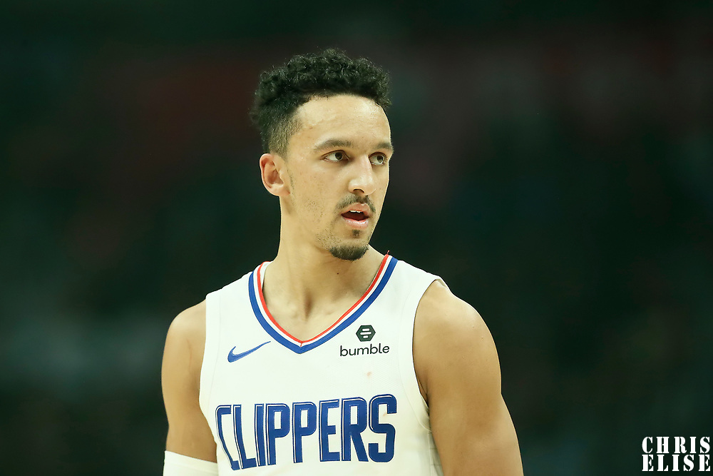 LOS ANGELES, CA - OCT 28: Landry Shamet (20) of the LA Clippers rests during a game on October 28, 2019 at the Staples Center, in Los Angeles, California.