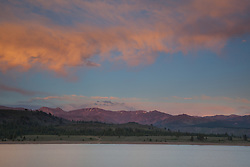 """Sunset at Boca Reservoir 1"" - This colorful cloud was photographed during sunset at Boca Reservoir near Truckee, California."