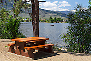Picnic area at Haynes Point Provincial Park, Osoyoos, British Columbia, Canada