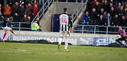 Falkirk's David Weatherston scoring their goal..Falkirk 1 v 0 Dunfermline, 16/2/2013..©Michael Schofield.
