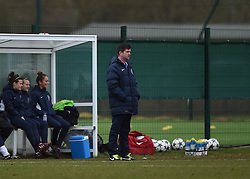 Bristol Academy manager, Dave Edmondson looks on - Photo mandatory by-line: Paul Knight/JMP - Mobile: 07966 386802 - 01/03/2015 - SPORT - Football - Bristol - Stoke Gifford Stadium - Bristol Academy Women v Aston Villa Ladies - Pre-season friendly