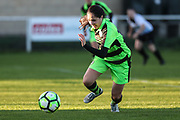 Forest Green Rovers Charlie Rowlands(12) runs forward during the South West Womens Premier League match between Forest Greeen Rovers Ladies and Marine Academy Plymouth LFC at Slimbridge FC, United Kingdom on 5 November 2017. Photo by Shane Healey.
