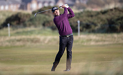 Ireland's Padraig Harrington plays his approach at the 2nd hole during day two of the Alfred Dunhill Links Championship at Carnoustie Golf Links, Angus.