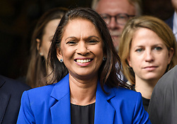 © Licensed to London News Pictures. 24/09/2019. London, UK. Businesswoman GINA MILLER is seen smiling while leaving The Supreme Court in London  following a ruling on an appeal against a judicial review of Boris Johnson's suspension of Parliament. The case has been brought by remain campaigner Gina Miller, with support from former British Prime Minister John Major. Photo credit: Ben Cawthra/LNP