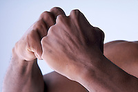 Powerful hands bonding together.