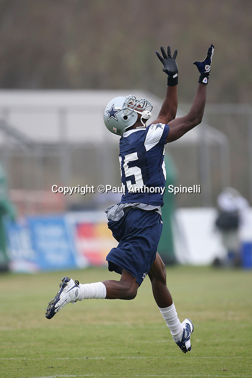 OXNARD, CA - AUGUST 01:  Safety Patrick Watkins #25 of the Dallas Cowboys reaches for a pass during the 2008 Dallas Cowboys Training Camp at River Ridge Field in Oxnard, California on August 1, 2008. ©Paul Anthony Spinelli *** Local Caption *** Patrick Watkins