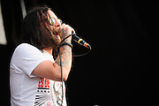 The Used performing at Warped Tour at the Verizon Wireless Amphitheater in St. Louis on July 5, 2012.