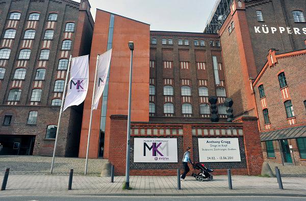 Duitsland, Duisburg, 6-5-2011Een van vroegere de binnenhavens van deze stad is onderdeel van Ruhr 2010. Een industriepark waarbij oude fabrieken en pakhuizen veranderd zijn in plaatsen voor cultuur en horeca. Hier het Kuppersmuhle museum voor hedendaagse, moderne kunst.Foto: Flip Franssen/Hollandse Hoogte