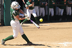 11 April 2015:  Amanda Lack during an NCAA Division III women's softball game between the Washington University Bears and the Illinois Wesleyan Titans in Bloomington IL