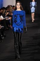 Erjona Ala walks down runway for F2012 Prabal Gurung's collection in Mercedes Benz fashion week in New York on Feb 10, 2012 NYC