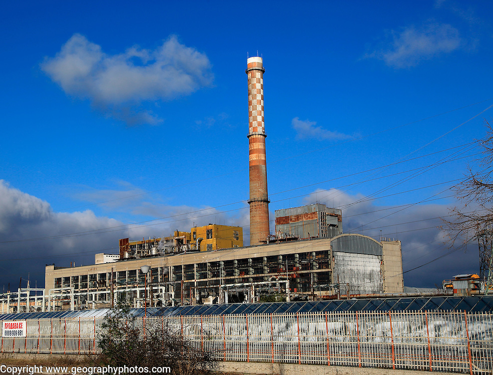 EVN coal fired power station in city of Plovdiv, Bulgaria,