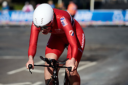 Tuva Byberg (NOR) at UCI Road World Championships 2019 Junior Women's TT a 13.7 km individual time trial in Harrogate, United Kingdom on September 23, 2019. Photo by Sean Robinson/velofocus.com