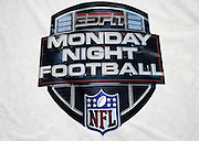 A ESPN Monday Night Football banner hangs from a sideline wall before the Washington Redskins 2015 week 13 regular season NFL football game against the Dallas Cowboys on Monday, Dec. 7, 2015 in Landover, Md. The Cowboys won the game 19-16. (©Paul Anthony Spinelli)