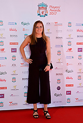 LIVERPOOL, ENGLAND - Tuesday, May 9, 2017: Liverpool Ladies goalkeeper Danielle Gibbons arrives on the red carpet for the Liverpool FC Players' Awards 2017 at Anfield. (Pic by David Rawcliffe/Propaganda)
