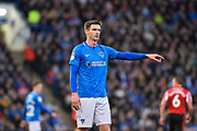 Portsmouth Forward, Oliver Hawkins (9) during the EFL Sky Bet League 1 match between Portsmouth and Sunderland at Fratton Park, Portsmouth, England on 22 December 2018.
