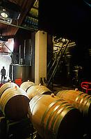 Wine barrels in winery Yarra Valley VictoriaAustalia