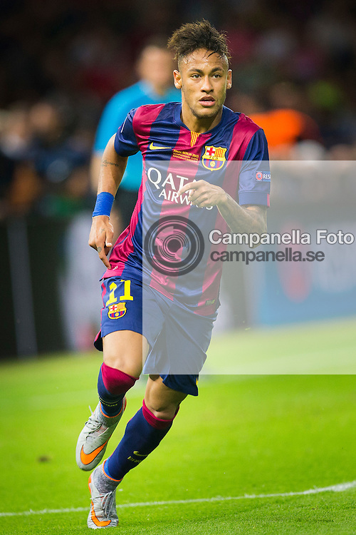 BERLIN, GERMANY - June 6th 2015:<br /> <br /> Barcelona 11 Neymar during the UEFA Champions League Final between Juventus FC and FC Barcelona at Olympiastadion in Berlin, Germany on June 6th 2015. (Photo: Michael Campanella)