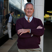 Keolis Operations Director Bennet Cornelius at the King Street VRE station in Alexandria, Virginia.
