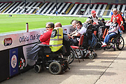 Disabled Grimsby Town fans arrive early before the EFL Sky Bet League 2 match between Grimsby Town FC and Oldham Athletic at Blundell Park, Grimsby, United Kingdom on 15 September 2018.