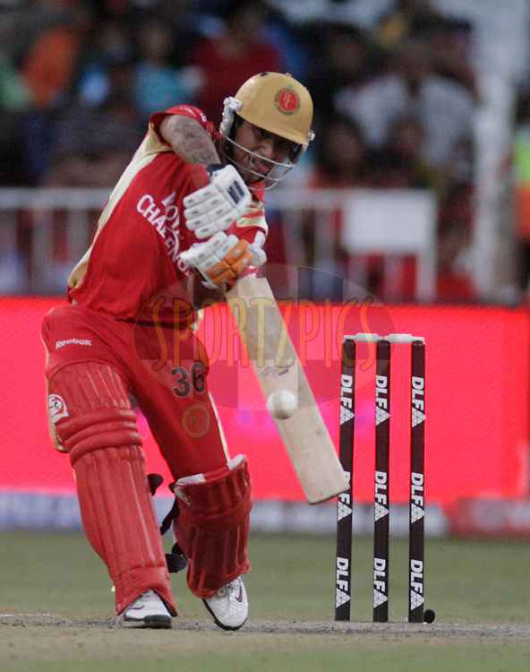 DURBAN, SOUTH AFRICA - 1 May 2009. Sreevats Goswami plays a shot during the IPL Season 2 match between Kings X1 Punjab and the Royal Challengers Bangalore held at Sahara Stadium Kingsmead, Durban, South Africa.