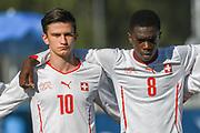 21.09.2017; Niederhasli; FUSSBALL U16 - Schweiz - Italien;<br /> Josip Brnic (SUI) Samuel Kasongo (SUI) <br /> (Andy Mueller/freshfocus)