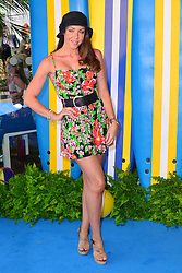 Teen Beach Movie Screening.<br /> Michelle Heaton during screening of musical adventure where surfer teens mysteriously wind up in a classic beach party movie called Wet Side Story.  The Riverfront Cafe Bar, BFI, Belvedere Road, London, United Kingdom<br /> Sunday, 7th July 2013<br /> Picture by Nils Jorgensen / i-Images