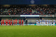 Penalty shoot-out, Queens Park Rangers forward Nahki Wells (21) takes his penalty, during the EFL Cup match between Queens Park Rangers and Bristol City at the Kiyan Prince Foundation Stadium, London, England on 13 August 2019.
