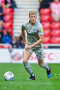 Ross McCrorie (#15) of Portsmouth FC during the EFL Sky Bet League 1 match between Sunderland and Portsmouth at the Stadium Of Light, Sunderland, England on 17 August 2019.