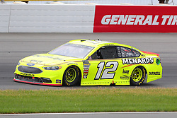 June 3, 2018 - Long Pond, PA, U.S. - LONG POND, PA - JUNE 03:  Ryan Blaney (12) in the Menards/Duracell Ford drives during the Monster Energy NASCAR Cup Series - Pocono 400 on June 3, 2018 at Pocono Raceway in Long Pond, PA.  (Photo by Rich Graessle/Icon Sportswire) (Credit Image: © Rich Graessle/Icon SMI via ZUMA Press)