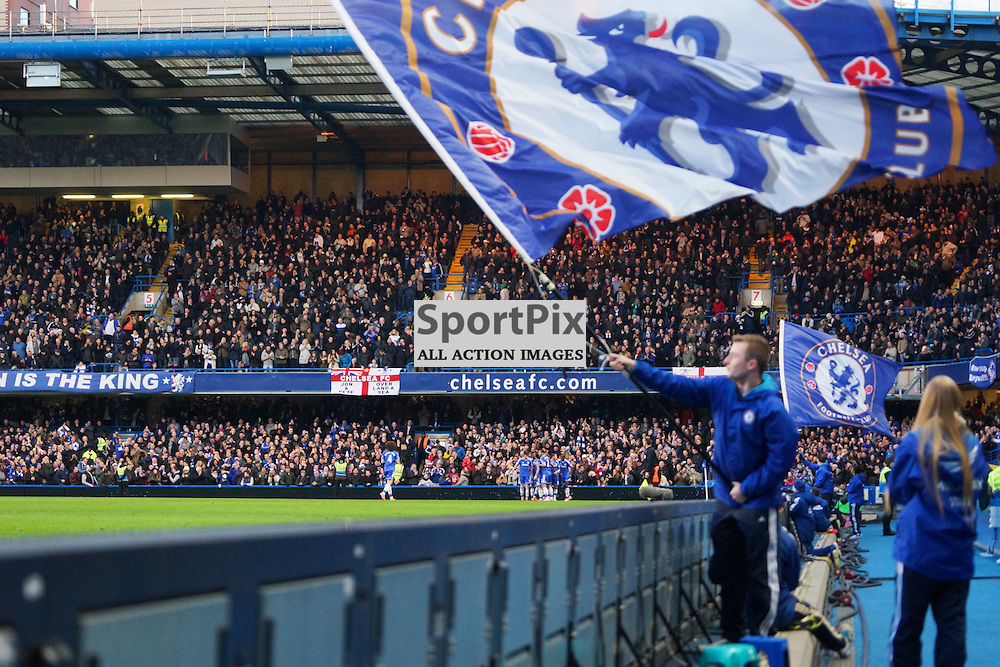Eden Hazard celebrates his goal for Chelsea,  Chelsea v Swansea, Barclays Premier League, 26 December 2013