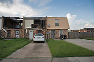 July 17, Eastern New Orleans,  Some renovated units in a blighted housing project damaged by Hurricane Katrina in 2005.