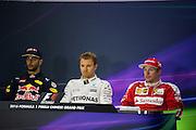 April 15-17, 2016: Chinese Grand Prix, Shanghai, Daniel Ricciardo (AUS), Red Bull, Nico Rosberg  (GER), Mercedes , Kimi Raikkonen (FIN), Ferrari