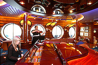 Royal Caribbean International's  Independence of the Seas,..Classical musicians playing at the Schooner Bar