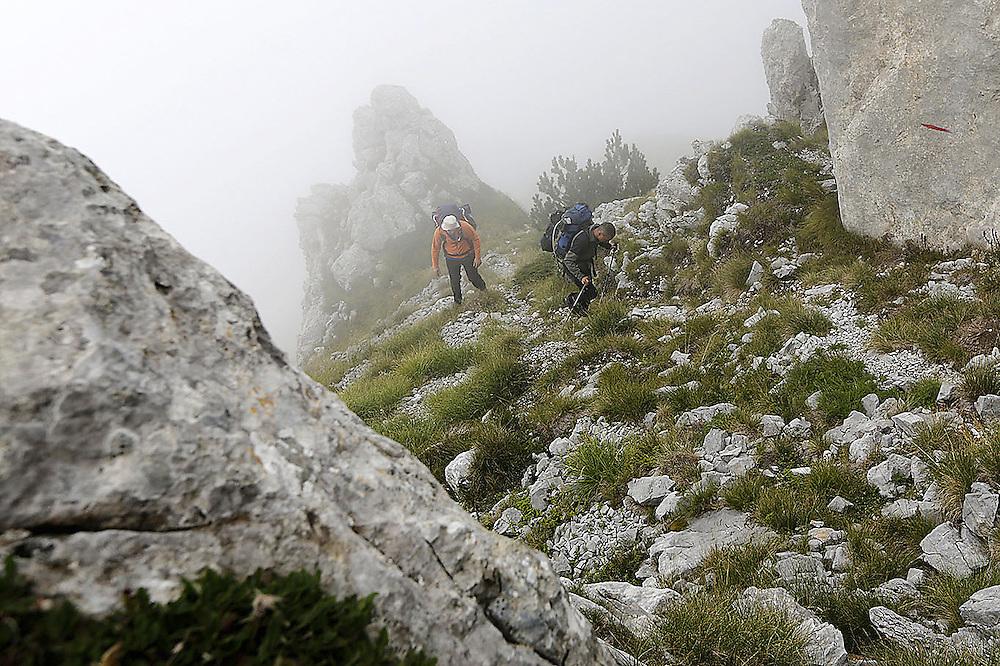 Climbing to 'Medjukomlje' pass, Montenegro.