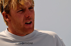 Ian Williams Skipper from the GAC Pindar Team competing at the opening round of the World Match Racing Tour in France.