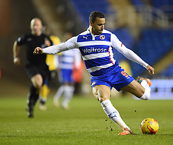 Reading's Hal Robson-Kanu in action during the Sky Bet Championship match between Reading and Wigan Athletic at Madejski Stadium on 17 February 2015 in Reading, England - Photo mandatory by-line: Paul Knight/JMP - Mobile: 07966 386802 - 17/02/2015 - SPORT - Football - Reading - Madejski Stadium - Reading v Wigan Athletic - Sky Bet Championship