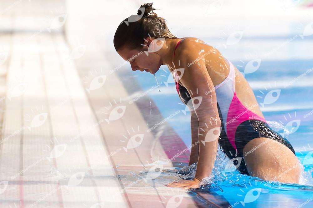 GREEN ANGERAME Genevieve LTU<br /> London, Queen Elizabeth II Olympic Park Pool <br /> LEN 2016 European Aquatics Elite Championships <br /> Diving<br /> Women's 3m springboard preliminary <br /> Day 06 14-05-2016<br /> Photo Giorgio Perottino/Deepbluemedia/Insidefoto