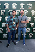 30/04/2014. Connacht Rugby's Ronan Lougney and John Muldoon  at the Jameson Cult Film Club screening of The Usual Suspects in the Black Box Galway. <br />  .Photo:Andrew Downes