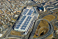Aerial view of Atlantic City Solar panels on top of the Convention Center in  New jersey