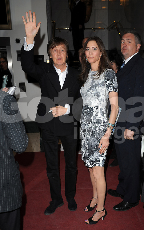 Sir Paul McCartney with his wife Nancy Shevell arriving at Rockshow - VIP premiere Screening BAFTA in London, UK. 15/05/2013<br />