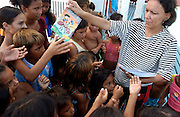 Brazilian river court boat brings books to students at schools along the river.