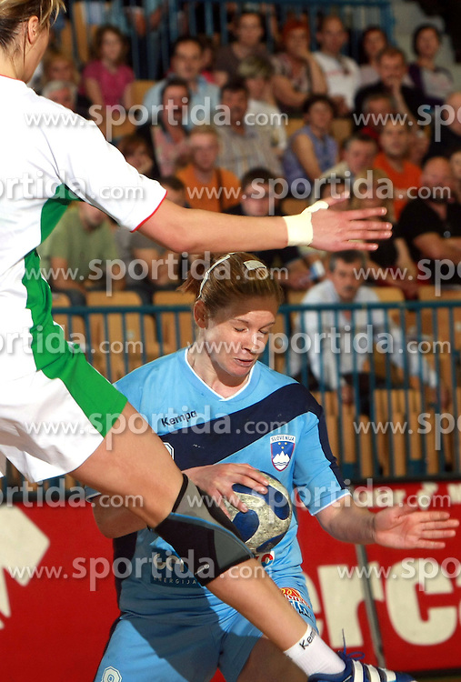 Neza Mitrusevska of Slovenia at handball game between women national teams of Slovenia and Belorussia, second qualification game for the European Chamionship 2009, on June 7, 2008, in Arena Zlatorog, Celje, Slovenija. Win of Belorussia, who qualified for EC 2009 in Macedonia. (Photo by Vid Ponikvar / Sportal Images)