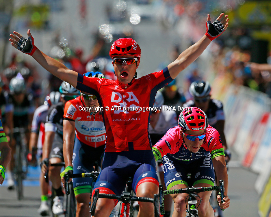 2015 Santos Tour Down Under. Adelaide. Australia.Sunday 25.1.2015. Stage 6. Adelaide Street Circuit.90km<br /> #171 Wouter WIPPERT (NED) DRAPAC Pro Cycling (AUS) wins the stage.<br /> &copy; ATP / Damir IVKA<br />  - Tour Down Under Australia 2015, Cycling, road race, Radrennen, Australien -  Radsport - Rad Rennen -<br /> - fee liable image: copyright &copy; ATP - IVKA Damir